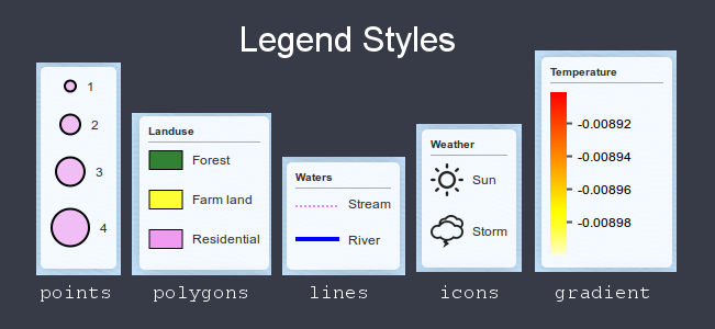 Fully customizable legends for rleafmap